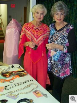 Wardrobe consultant, Joyce Gallagher, and her assistant Georgia Janush.